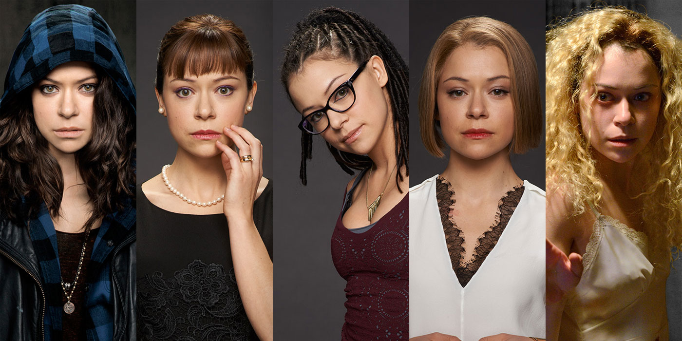 Tatiana Maslany as the clones in Orphan Black