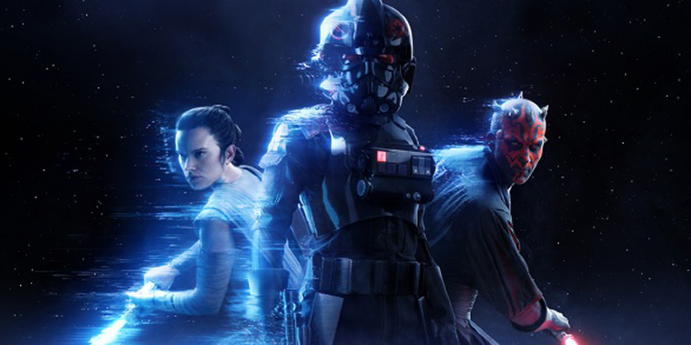Rey, Inferno Trooper, and Darth Maul in Star Wars Battlefront II