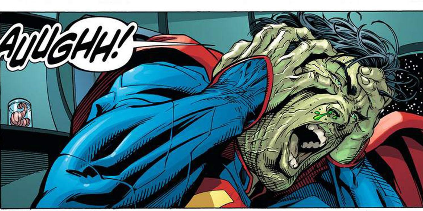 Superman's brain flooded with Kryptonite