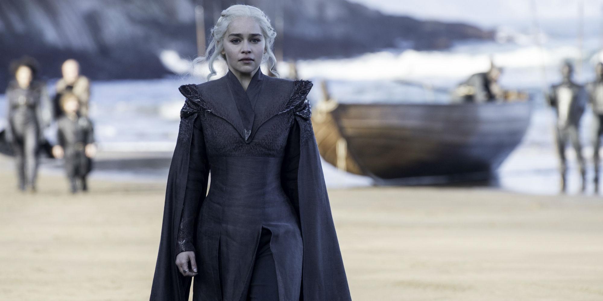 Emilia Clarke as Daenerys Targaryen in Game of Thrones season 7