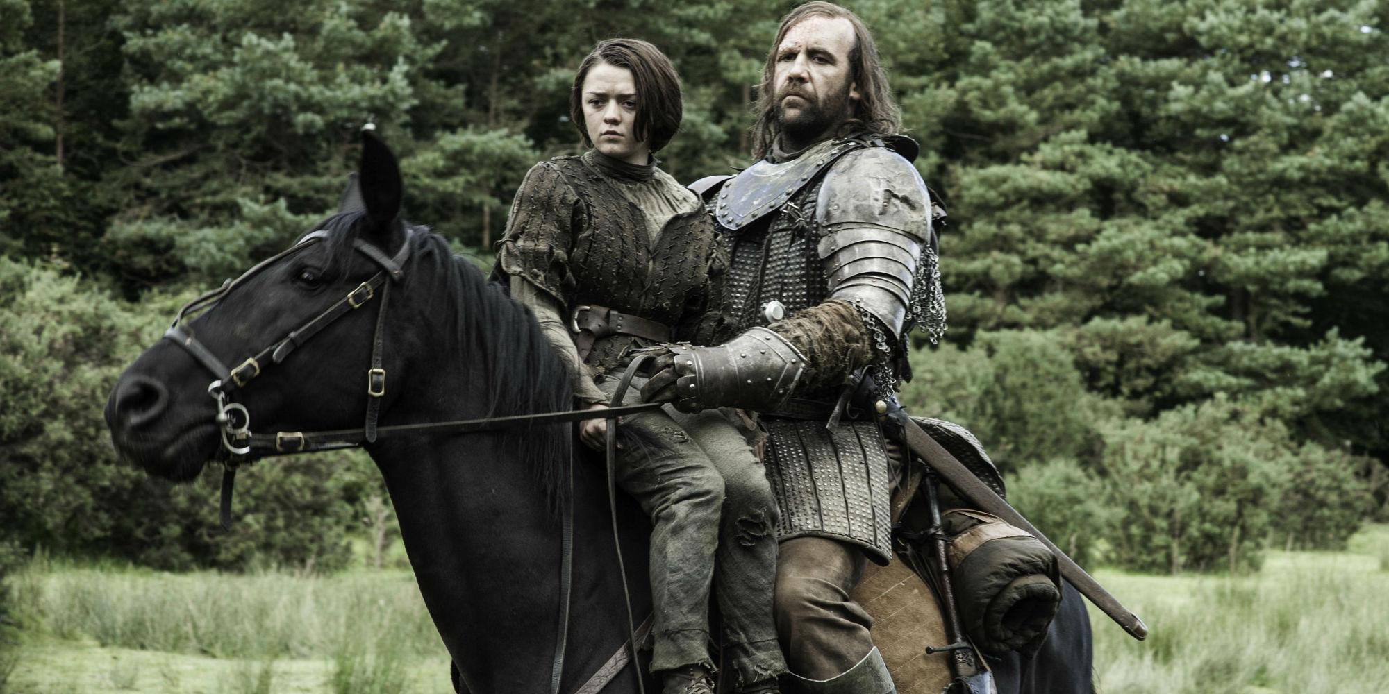 Game of Thrones - Hound and Arya