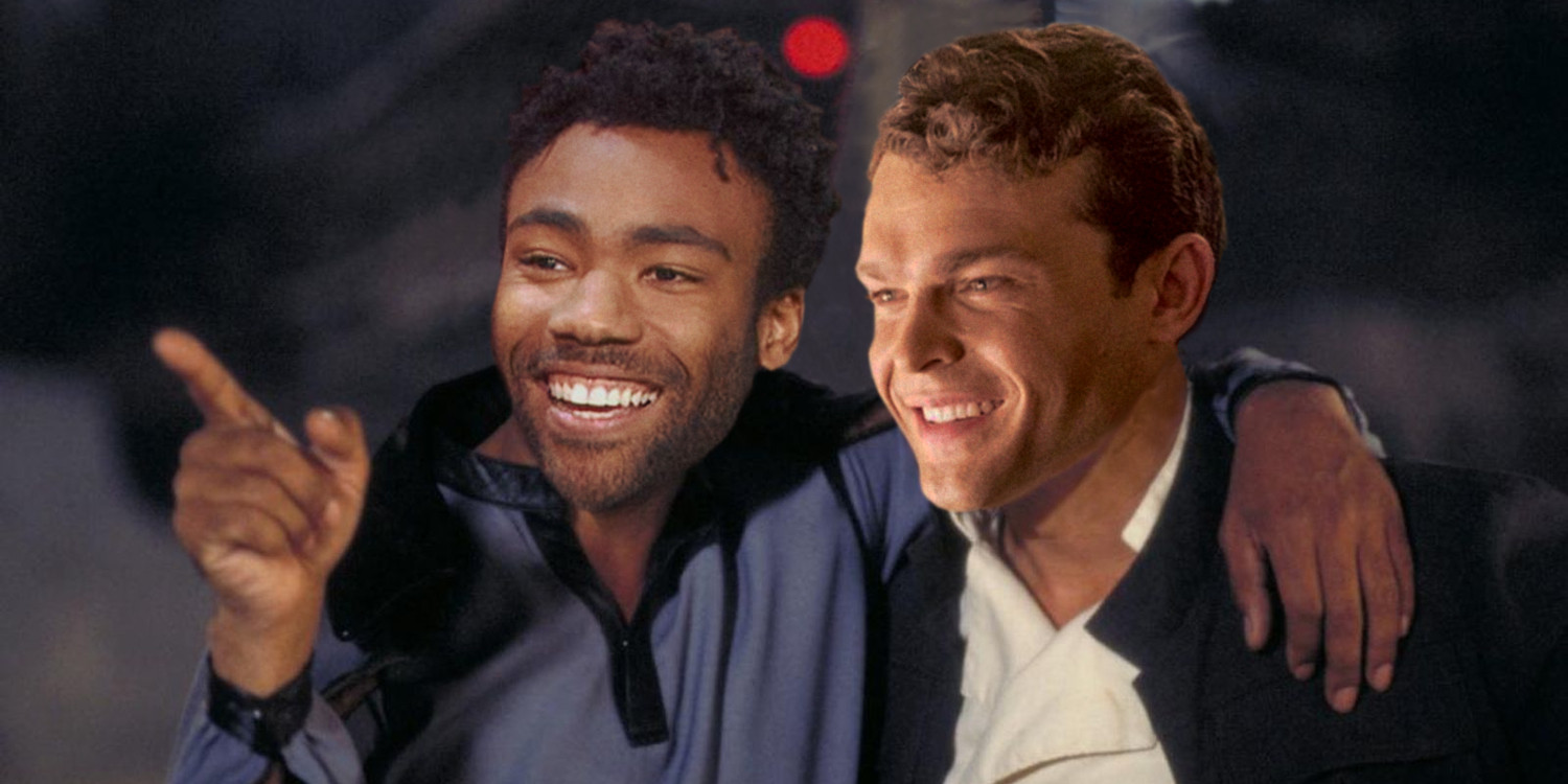Star Wars Alden Ehrenreich and Donald Glover as Han Solo and Lando Calrissian