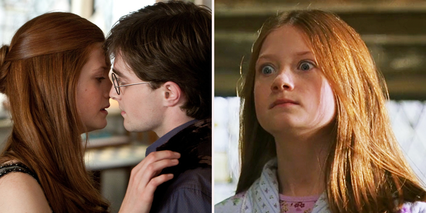 Ginny weasley gets off for harry potter 8