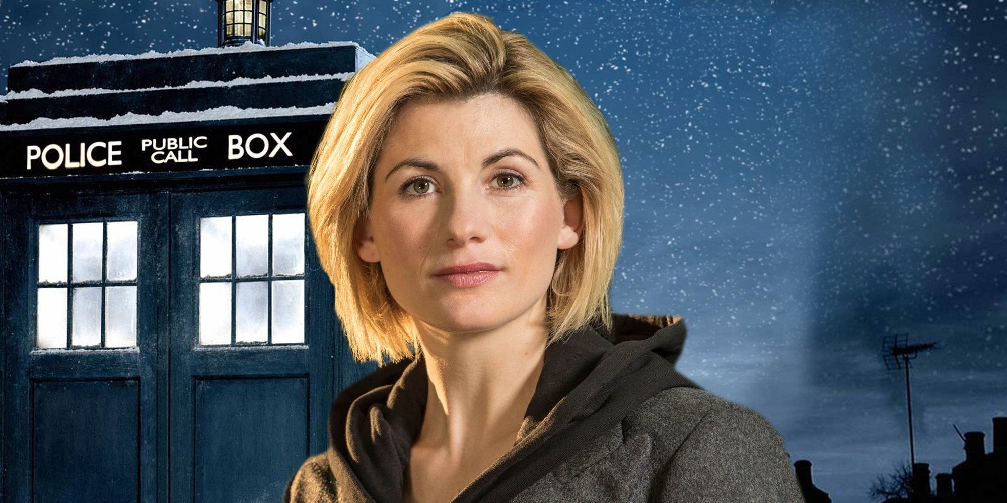Jodi Whitaker as New Doctor Who Police Box