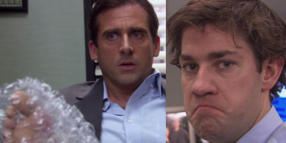 Michael Scott burns his foot on George Foreman Grill