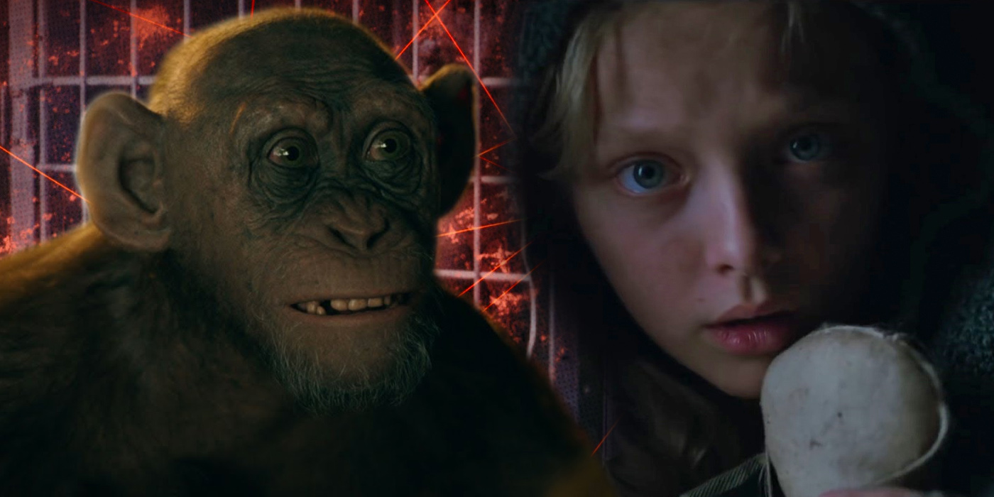 Nova and Bad Ape in War for the Planet of the Apes