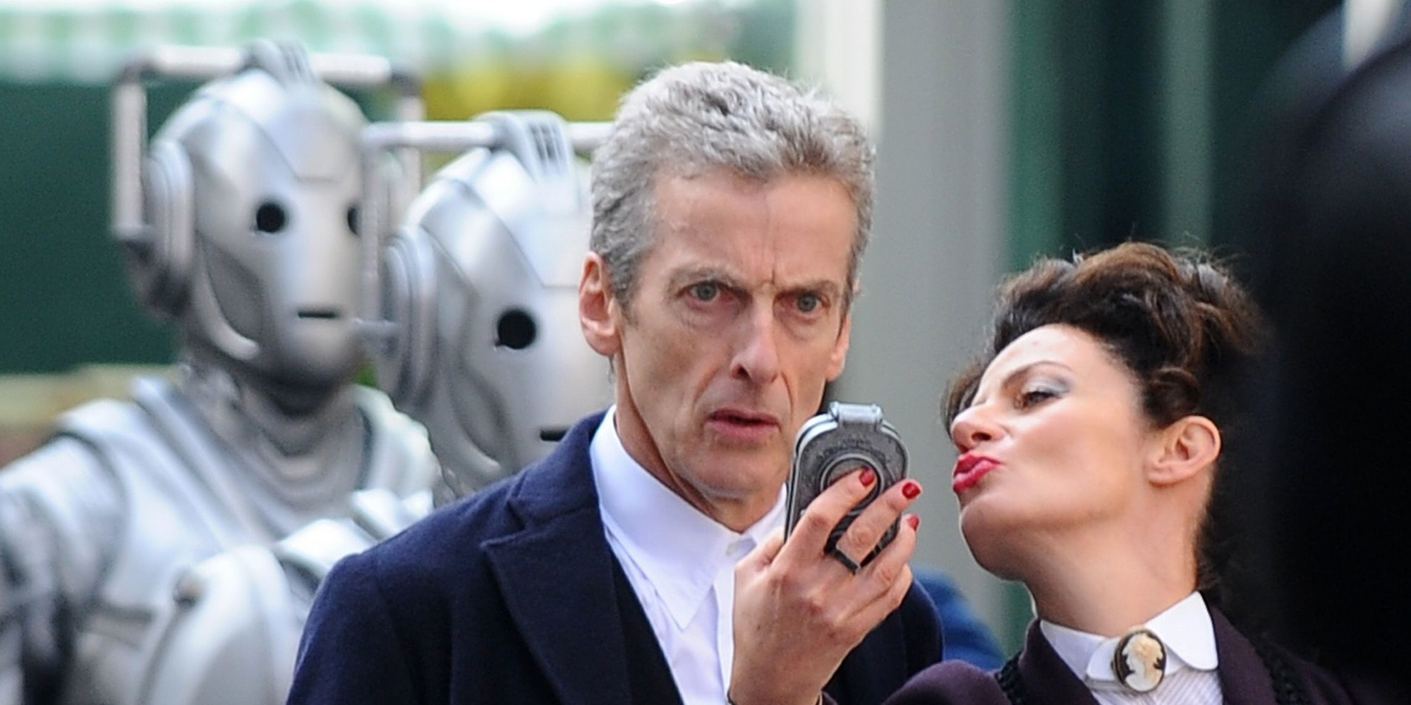 Peter Capaldi as The Doctor and Michelle Gomez as Missy in Doctor Who