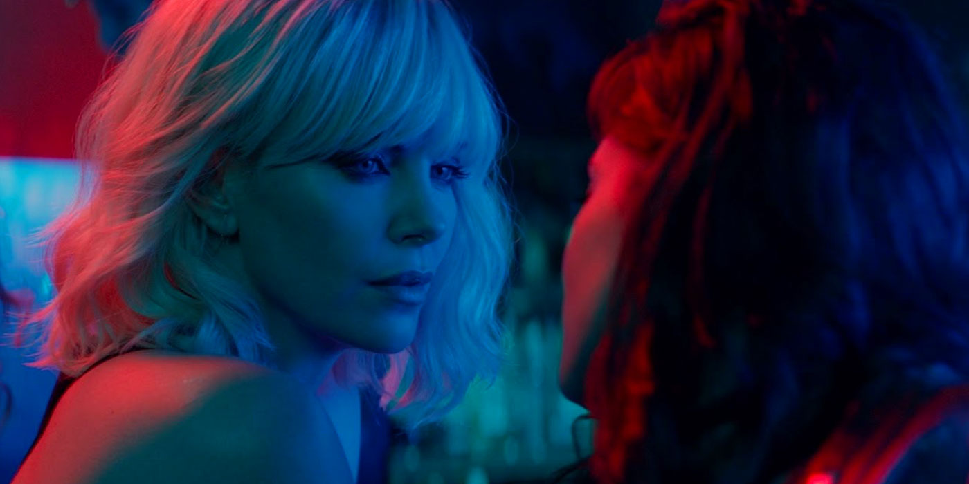 Sofia Boutella and Charlize Theron in Atomic Blonde