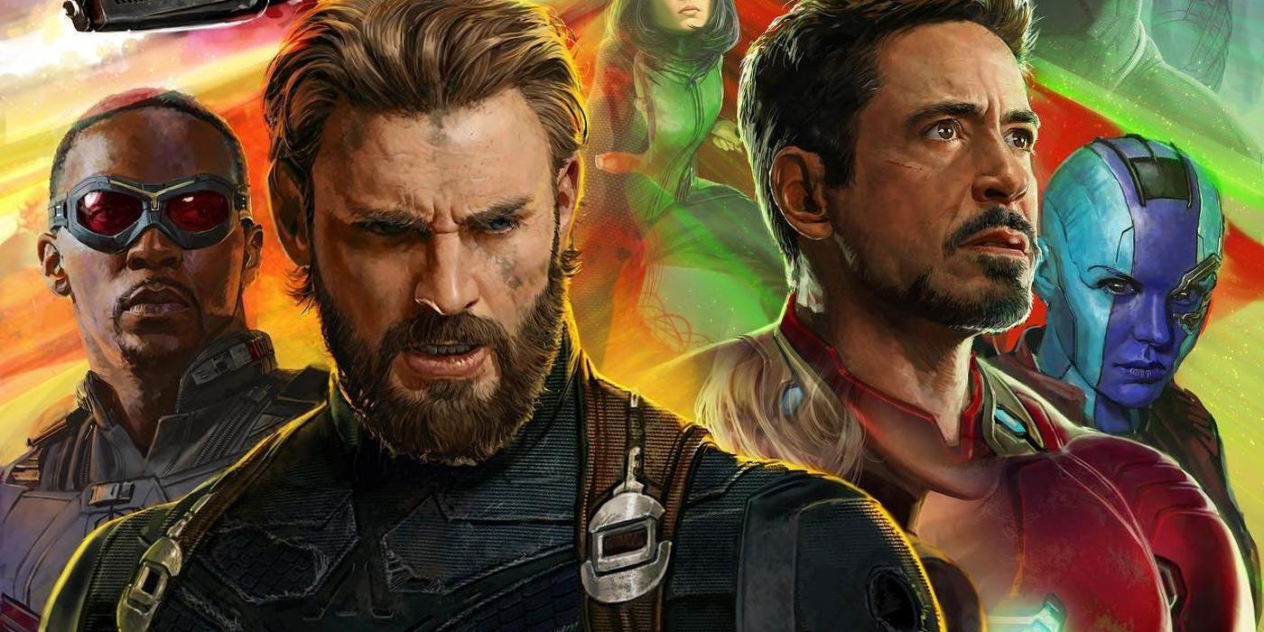 Steve Rogers and Tony Stark in Avengers Infinity War