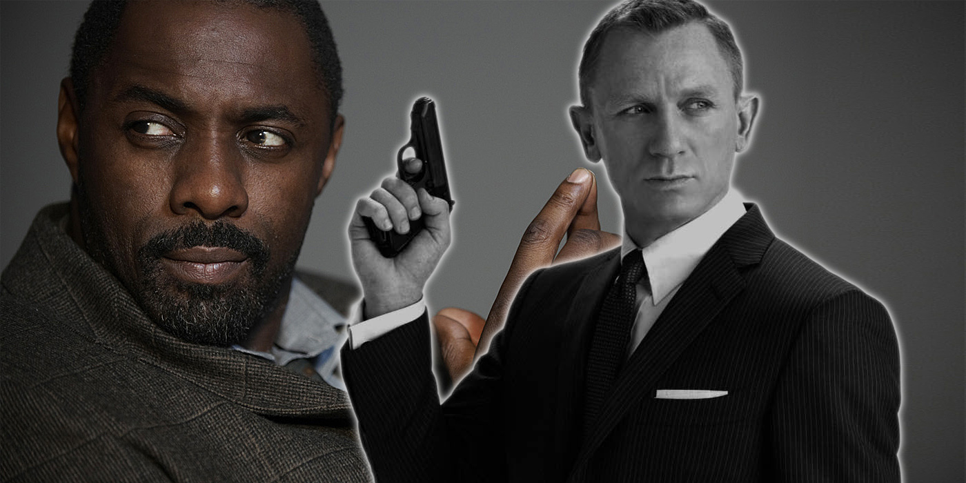 Daniel Craig as James Bond and Idris Elba as Luthor