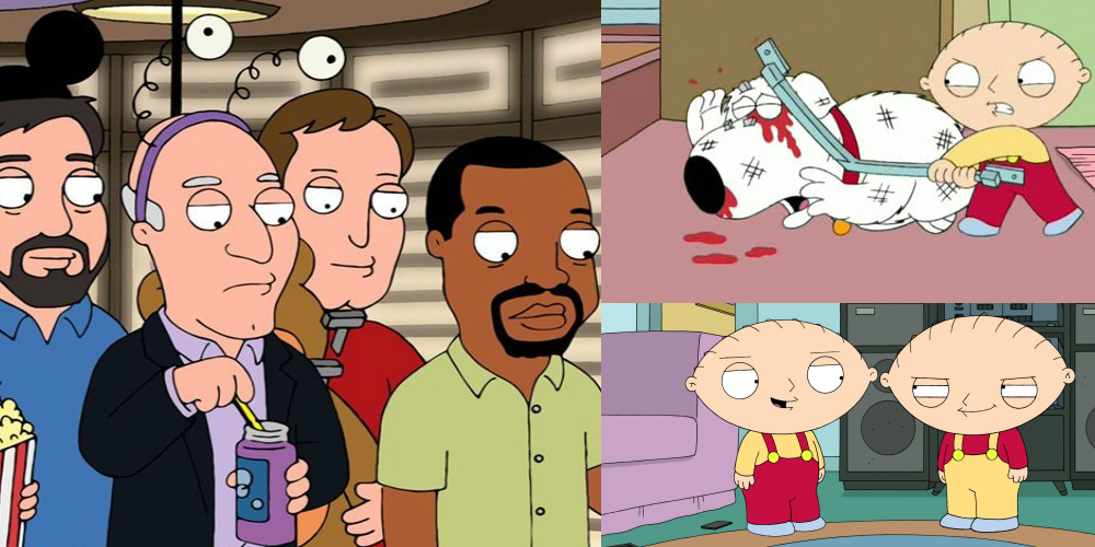 Stewie's evil acts on Family Guy