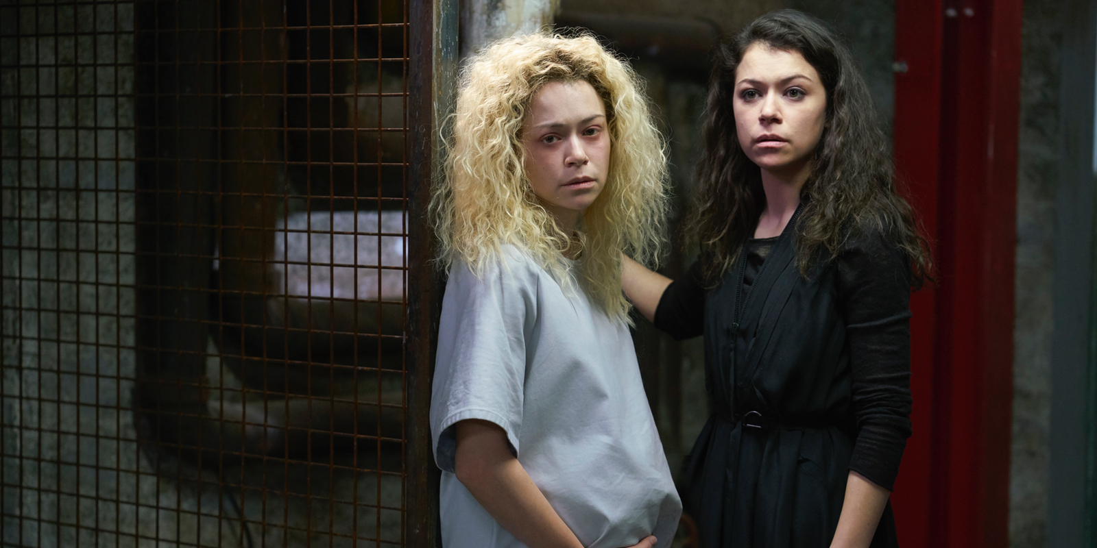 Helena and Sarah Tatiana Maslany in Orphan Black Series Finale