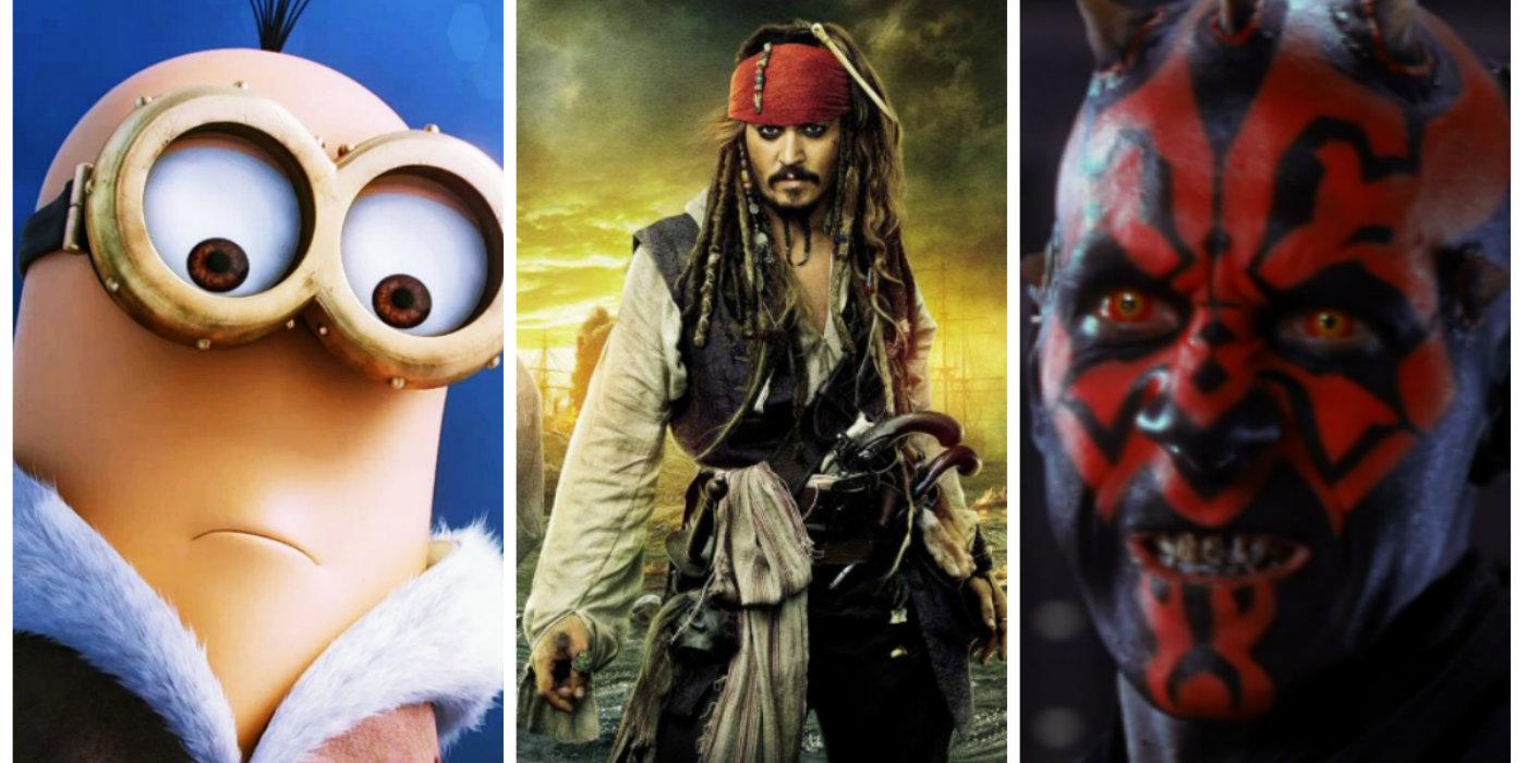 Minion Jack Sparrow Darth Maul collage