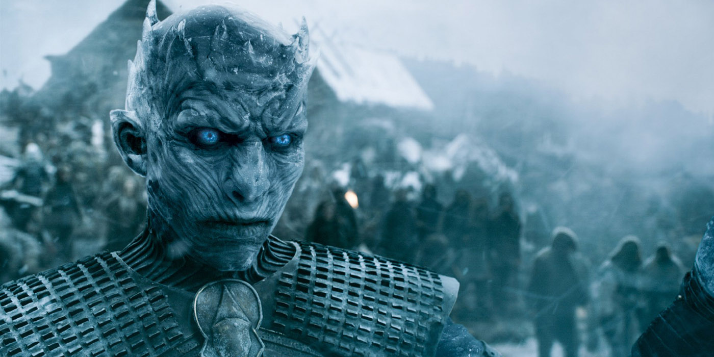 Richard Brake as the Night King on Game of Thrones