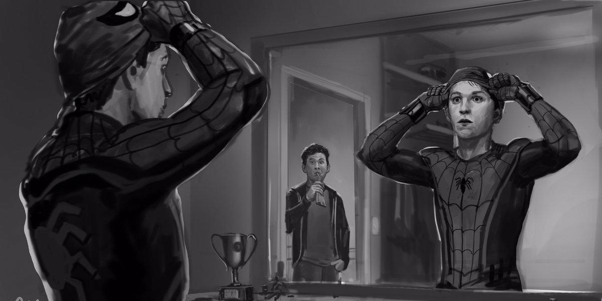 Spider-Man: Homecoming Ned Leeds Concept Art | Screen Rant Robert Downey Facebook