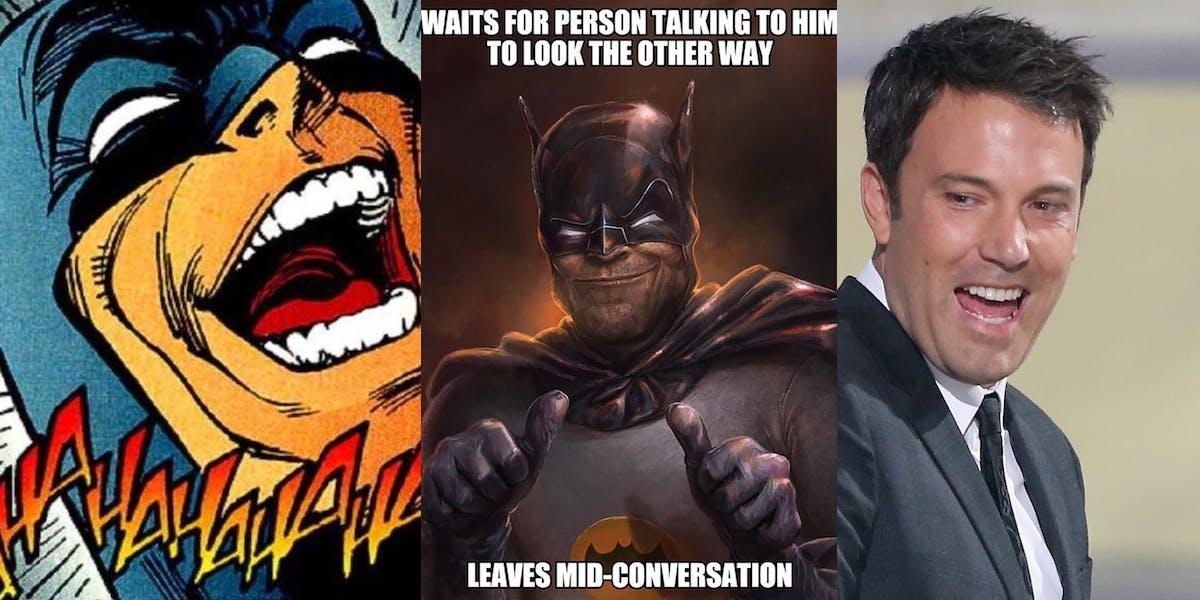 batman memes funny funniest split sides dc ever there screen rant meme tv leave