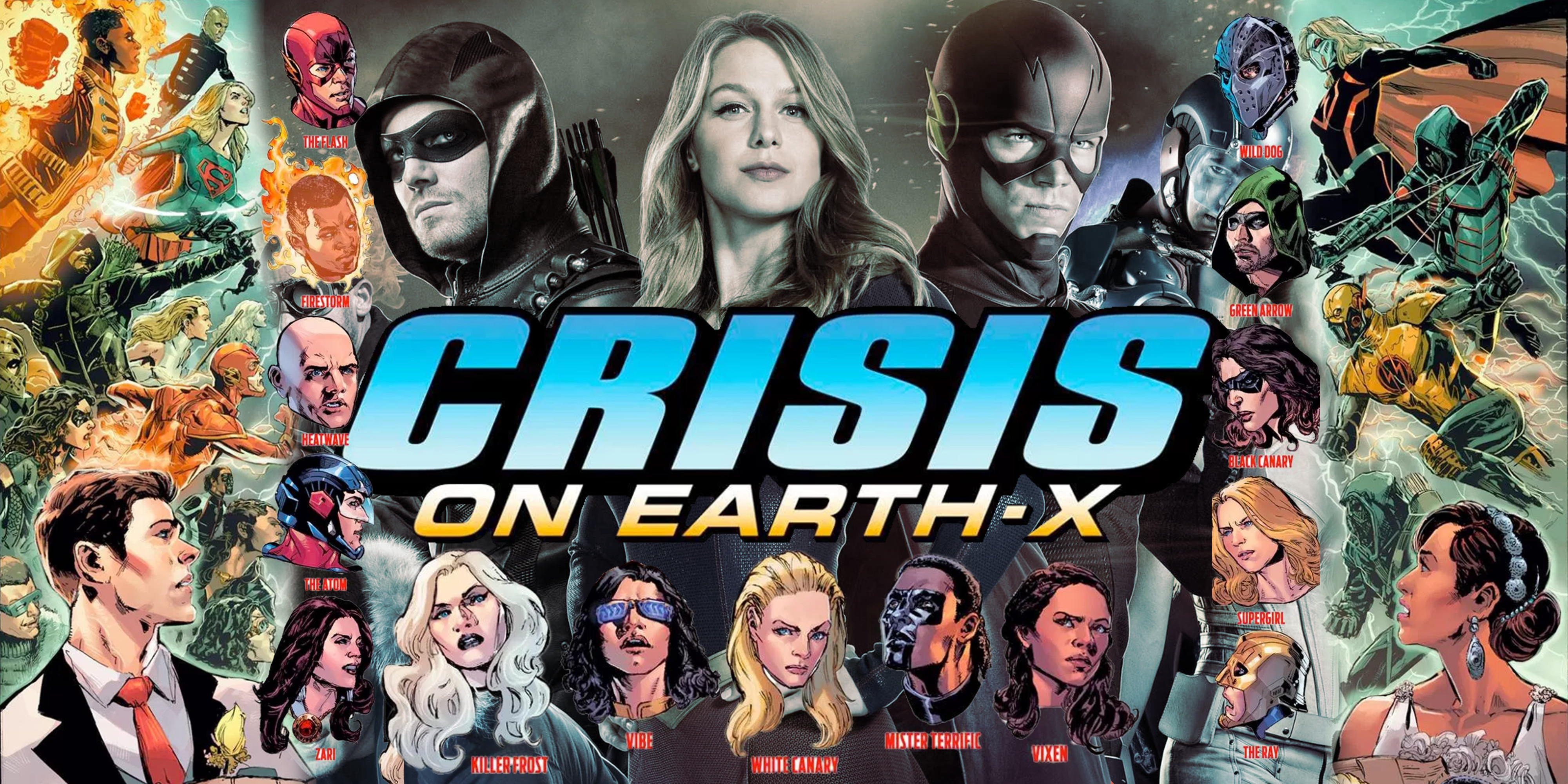 Crisis on Earth-X Unites Over 20 Superheroes In One Scene