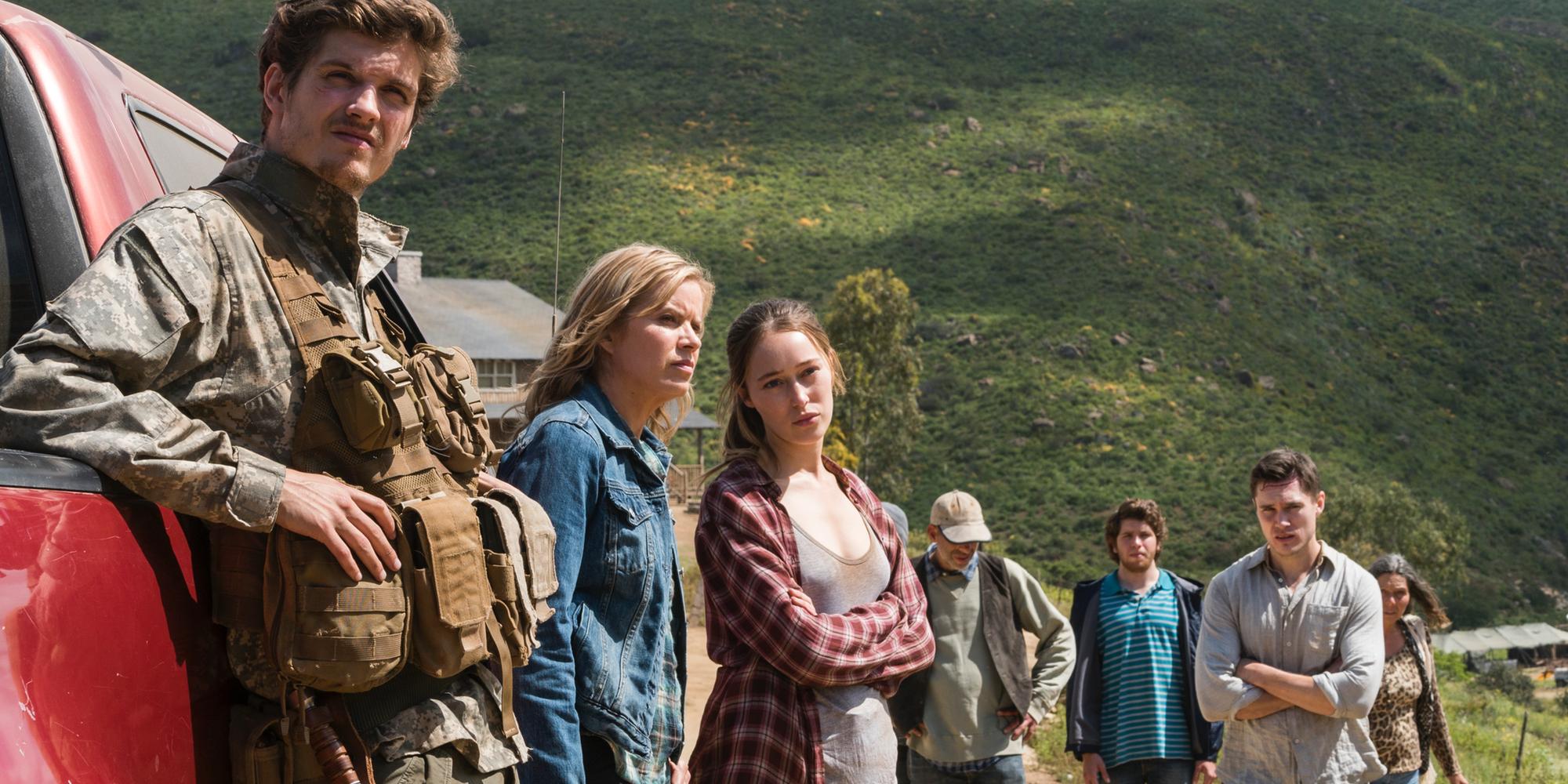 Daniel Sharman Kim Dickens Alycia Debnam-Carey Fear the Walking Dead