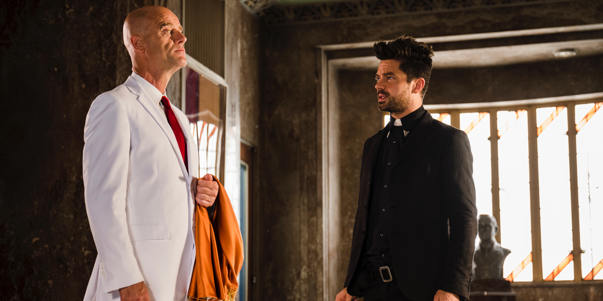 Pip Torrens and Dominic Cooper in Preacher Season 2 Finale