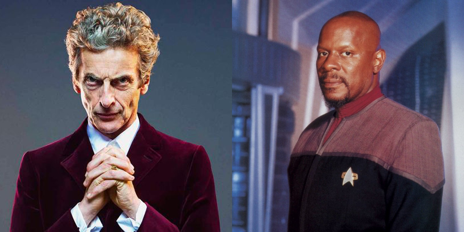 Peter Capaldi as Doctor Who and Avery Brooks as Benjamin Sisko in Star Trek: Deep Space Nine