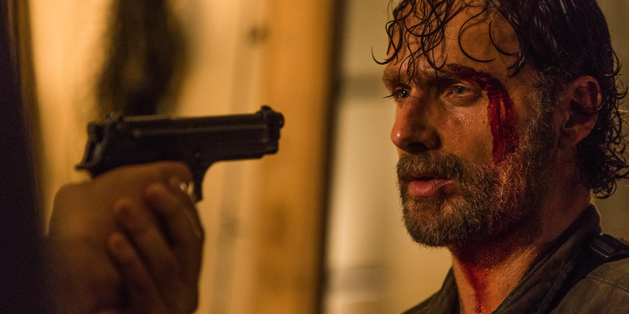 Andrew Lincoln in The Walking Dead Season 8