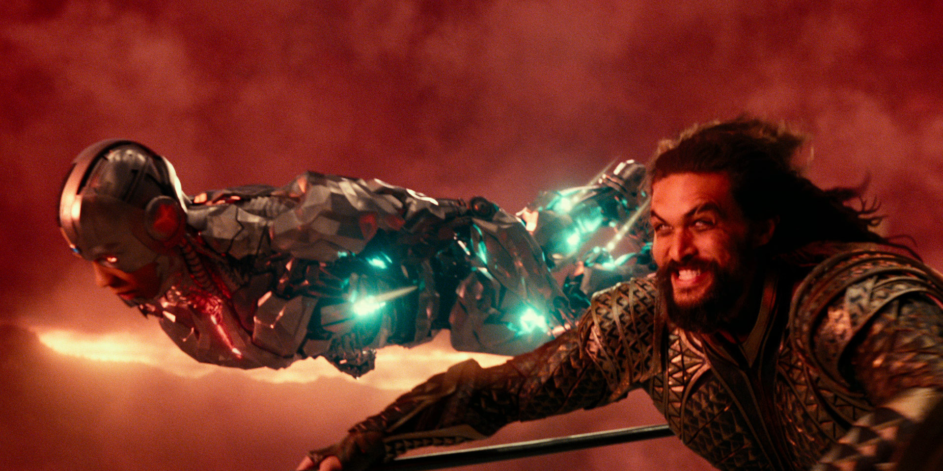Cyborg and Aquaman in Justice League