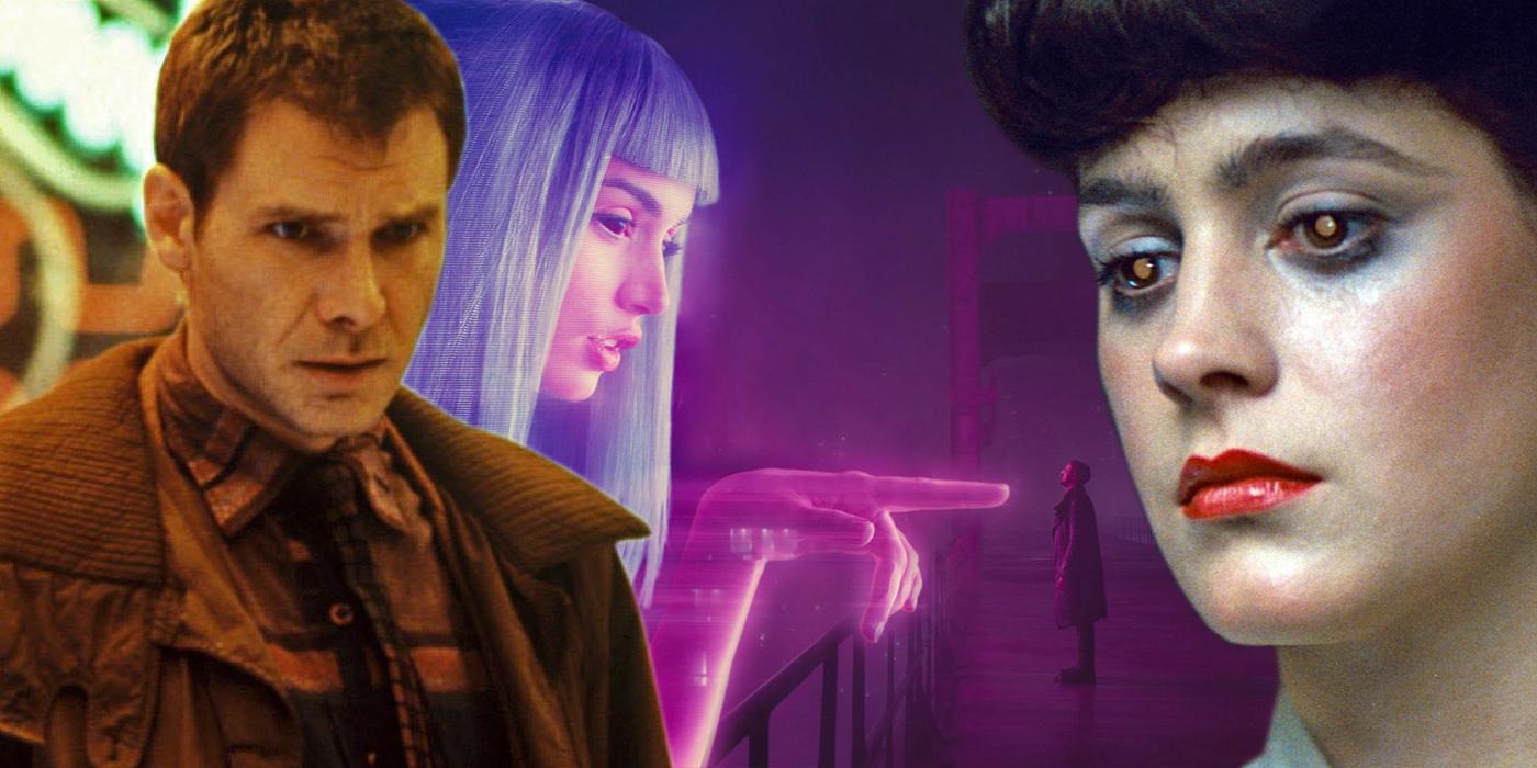Deckard Joi K and Rachael from Blade Runner 2049
