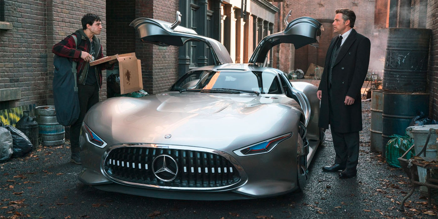 Ezra Miller Ben Affleck Mercedes Vision GT Justice League