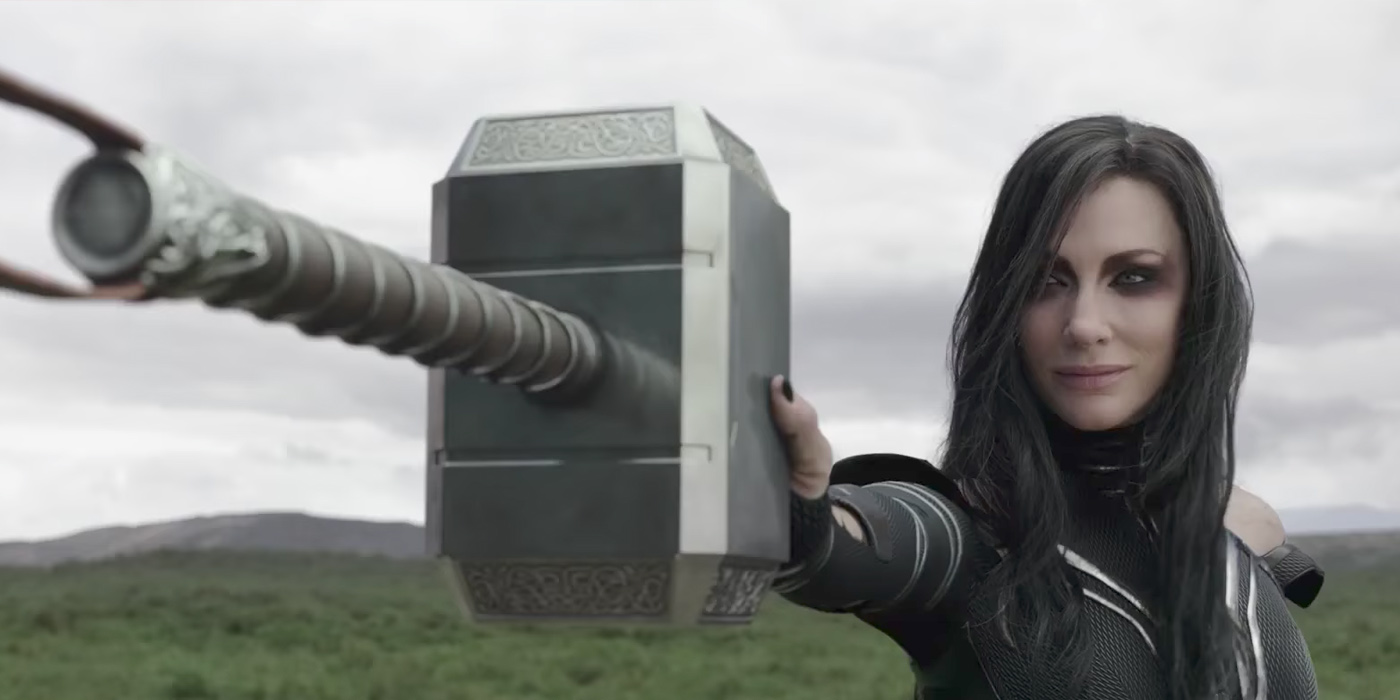 Image result for hela destroys thor's hammer