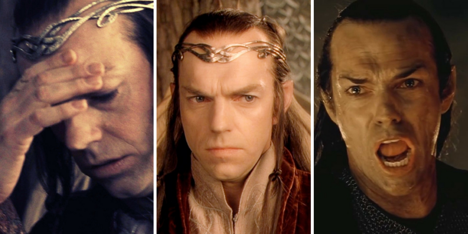 Lord of the Rings Hugo Weaving as Elrond Elf Elves Fellowship of the Ring Peter Jackson