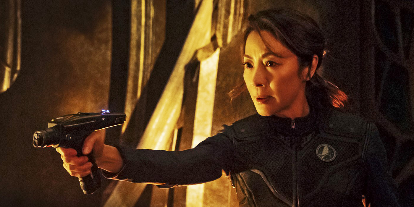 Michelle Yeoh as Captain Phillippa Georgiou on Star Trek Discovery