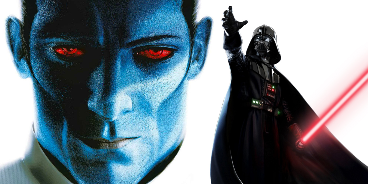 Thrawn and Darth Vader in Star Wars