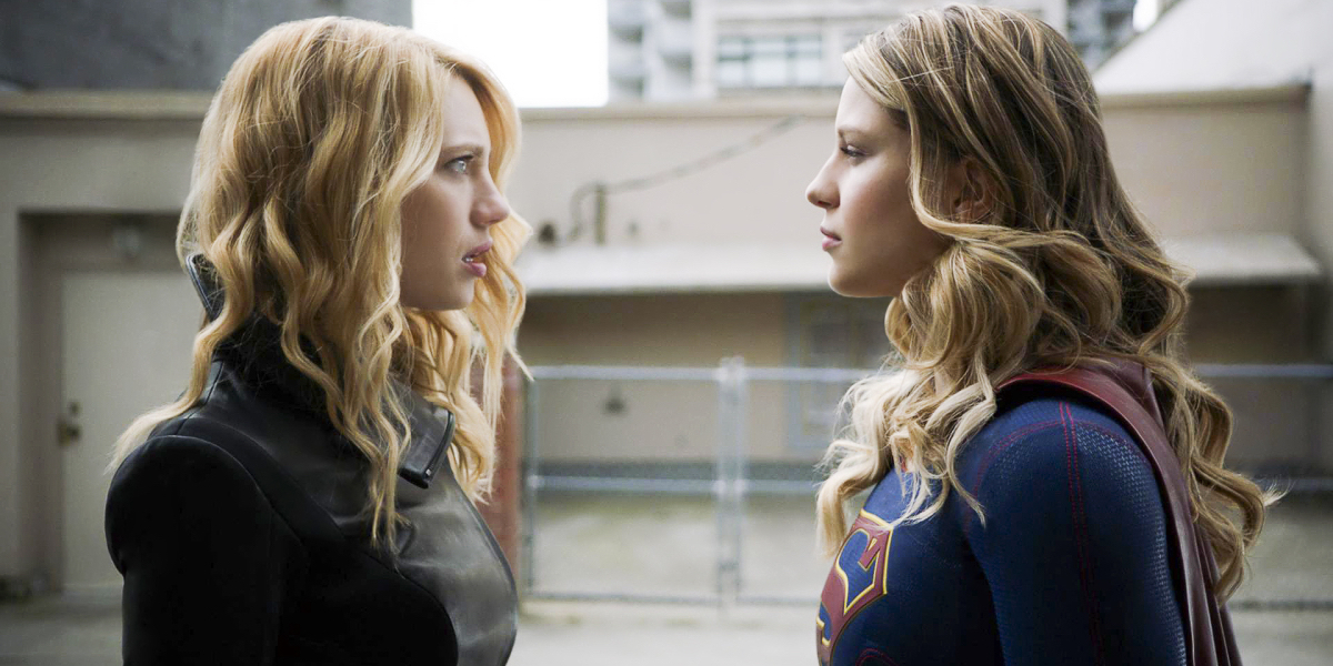 Yael Grobglas and Melissa Benoist in Supergirl Season 3 Episode 2