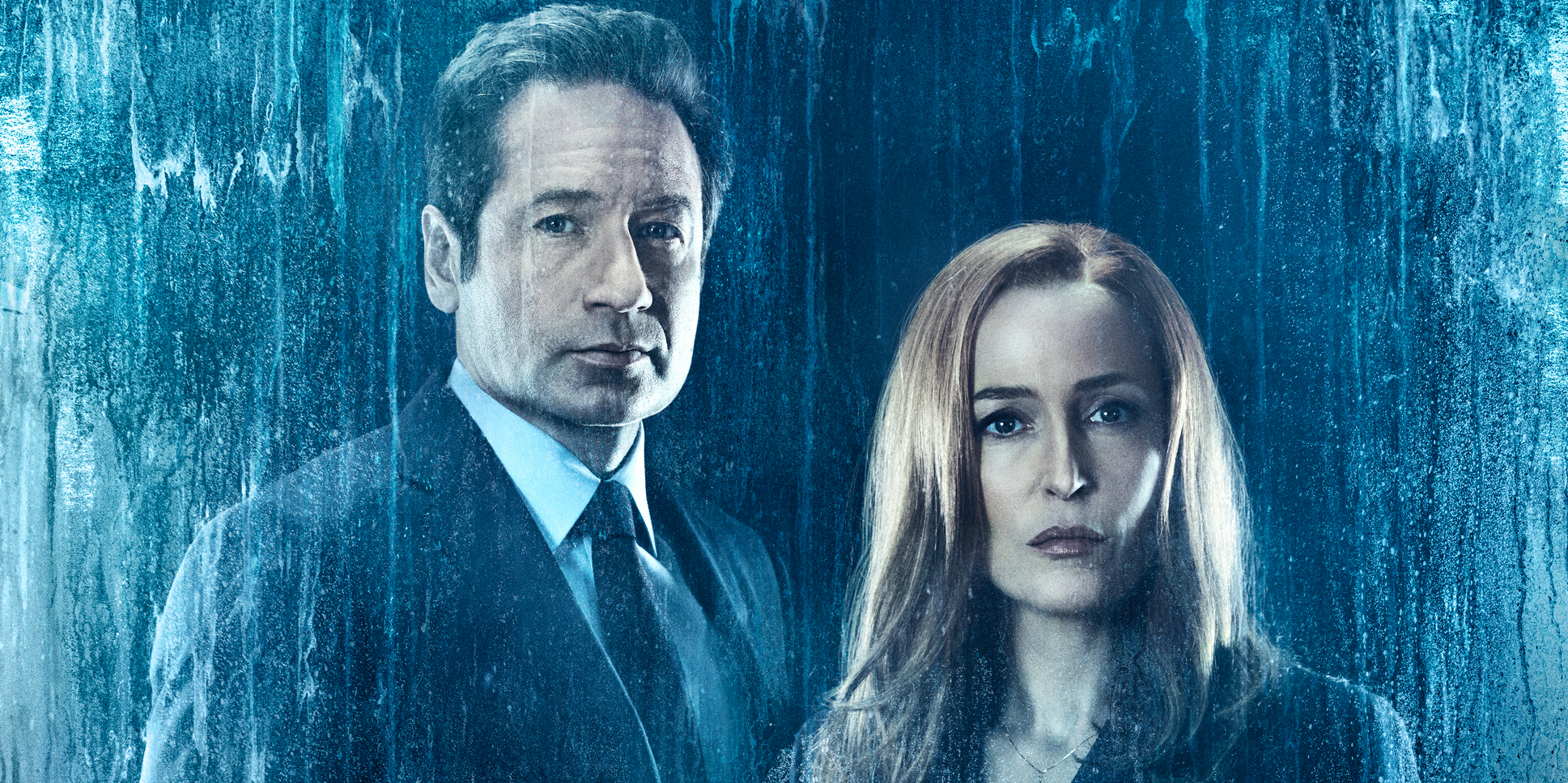 David Duchovny and Gillian Anderson in The X-Files Season 11