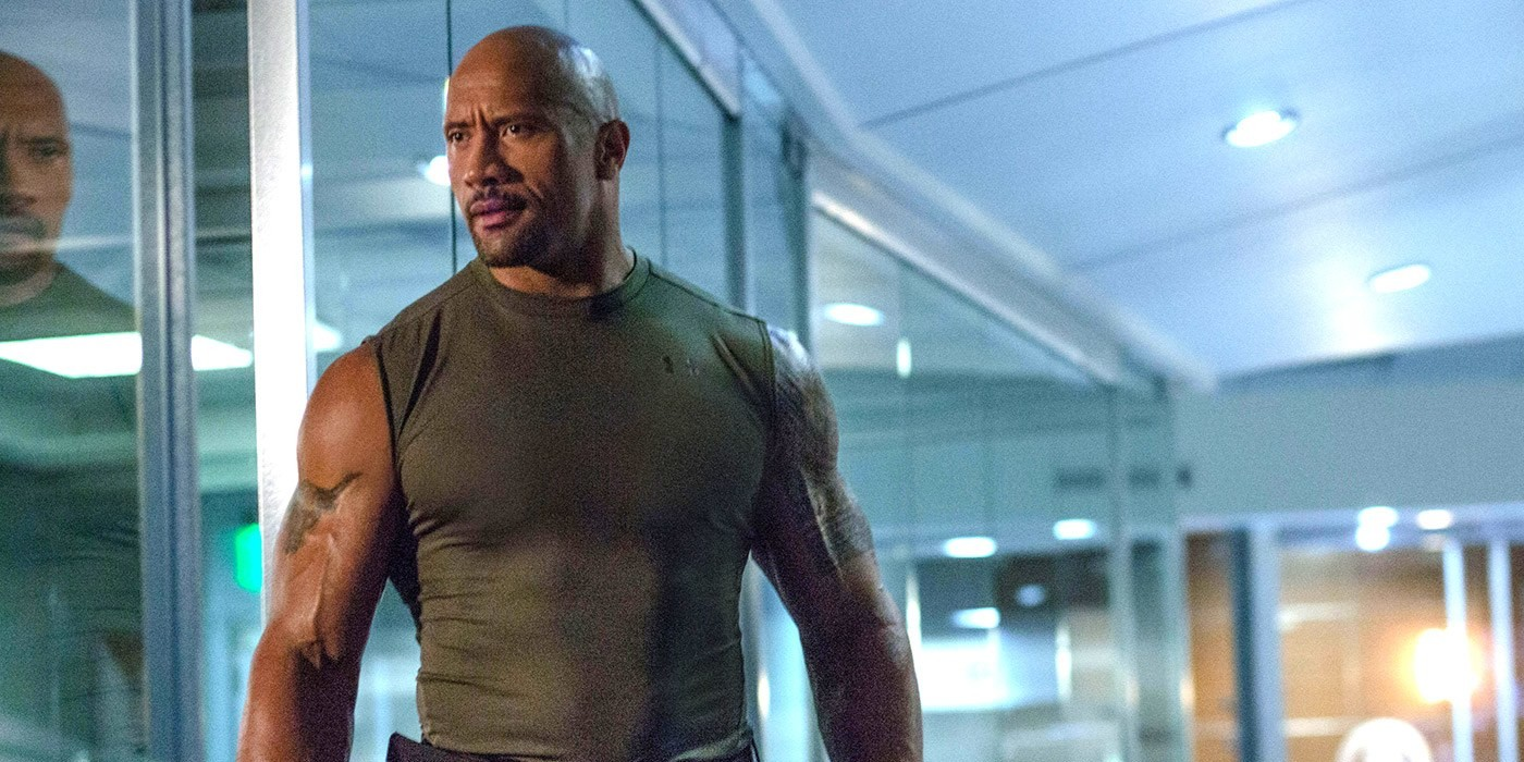 Dwayne Johnson as Hobbs in Fast and Furious 7