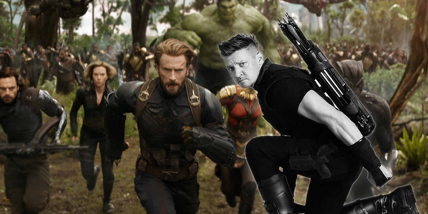 Hawkeye and Avengers in Infinity War