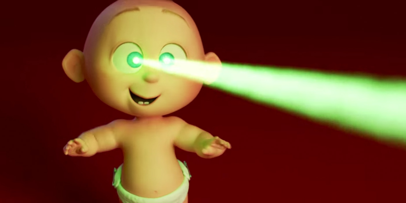 Jack-Jack use His laser beams in The Incredibles 2