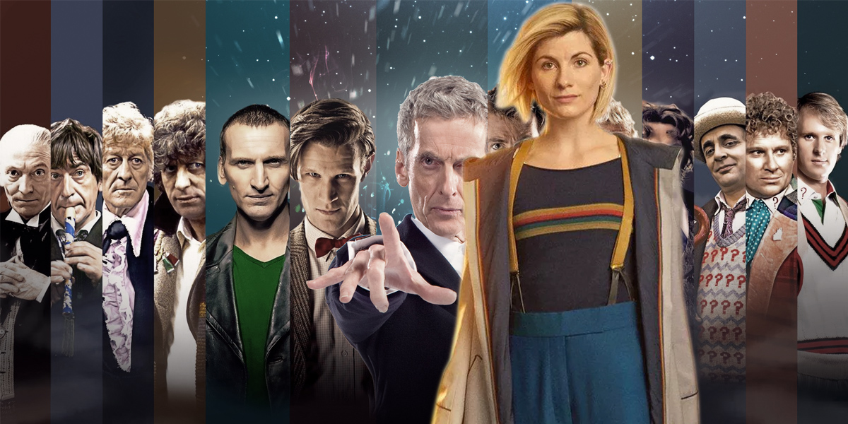 Jodie Whittaker and the rest of the Doctors from Doctor Who
