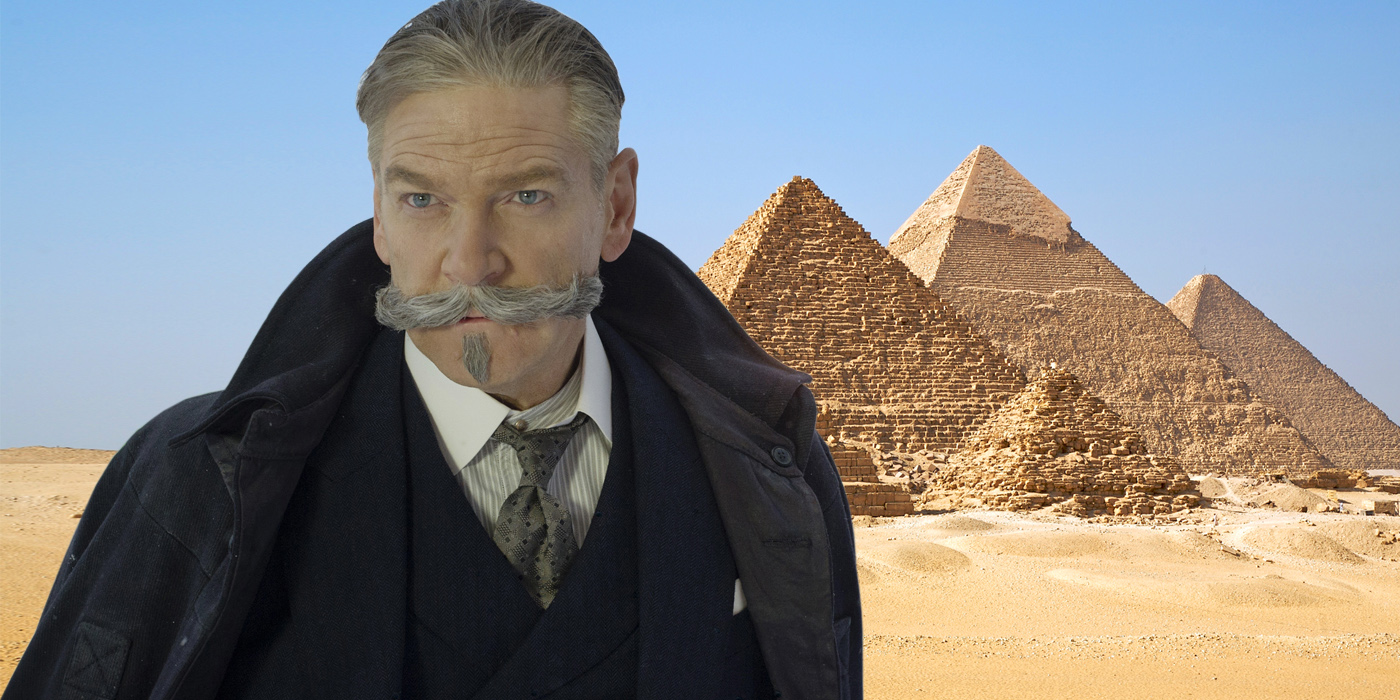 Kenneth Branagh as Poirot and the Pyramids