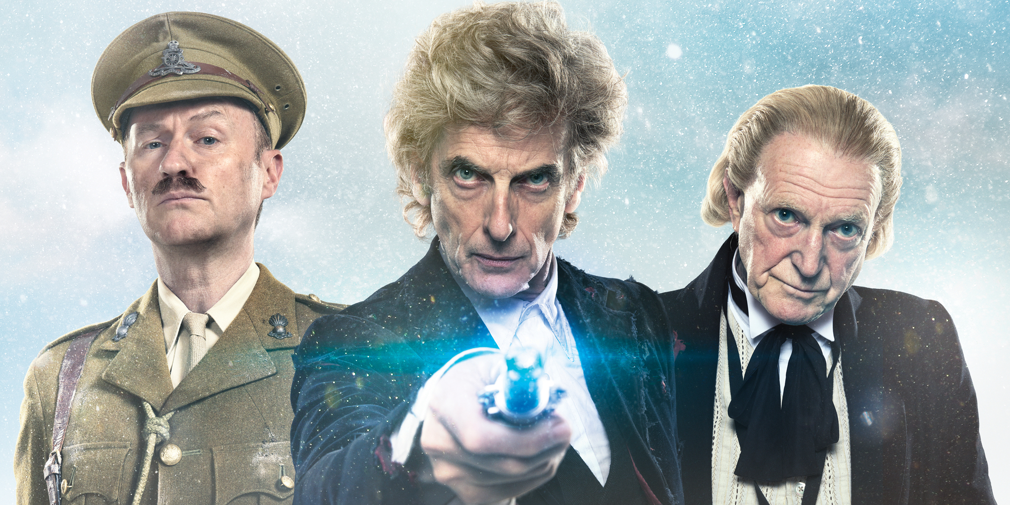 Mark Gatiss Peter Capaldi and David Bradley in Doctor Who Christmas Special