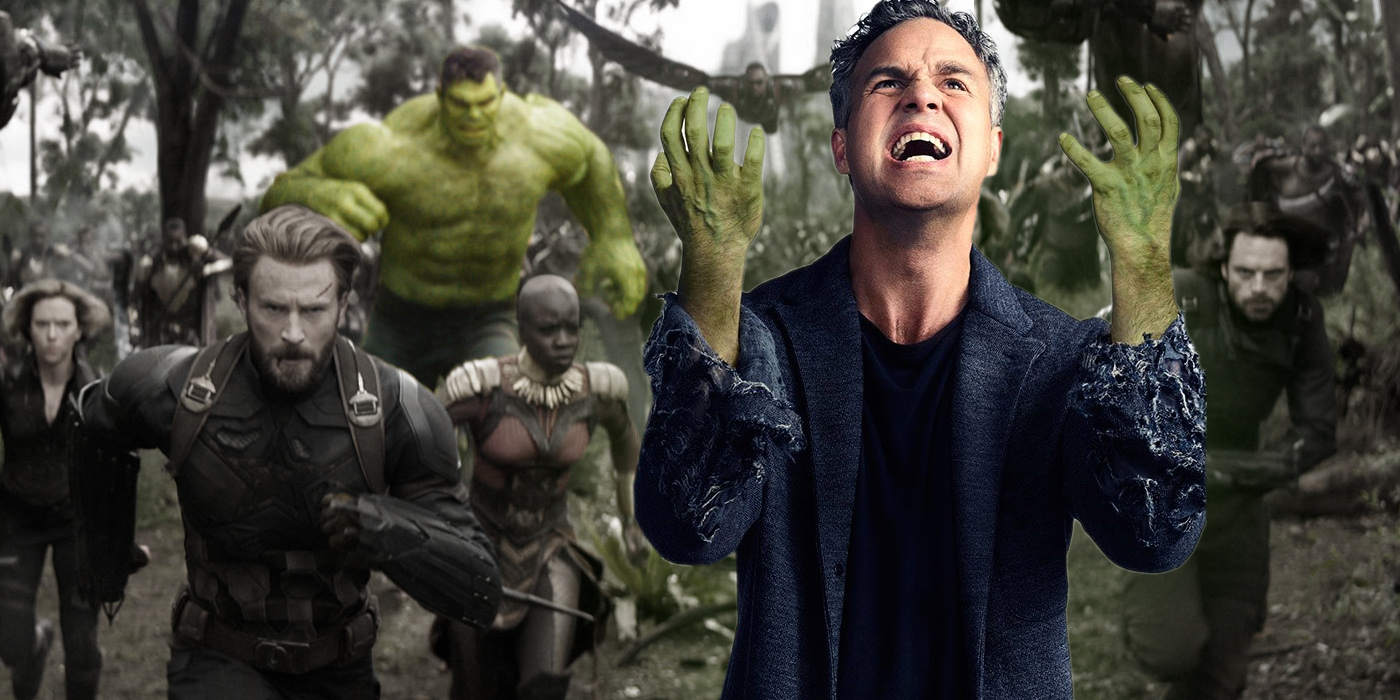 Mark Ruffalo as Bruce Banner and Hulk in Avengers Infinity War