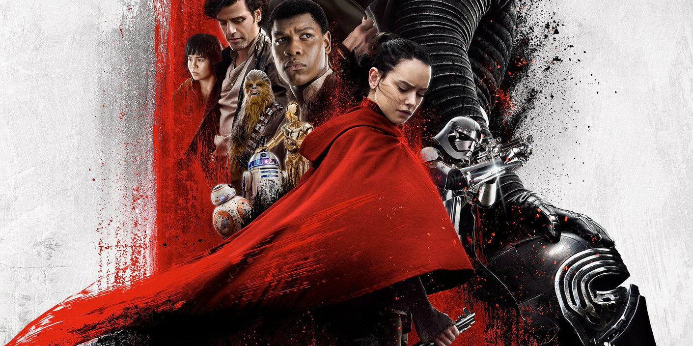 the last jedi imax poster is covered in red screen rant. Black Bedroom Furniture Sets. Home Design Ideas