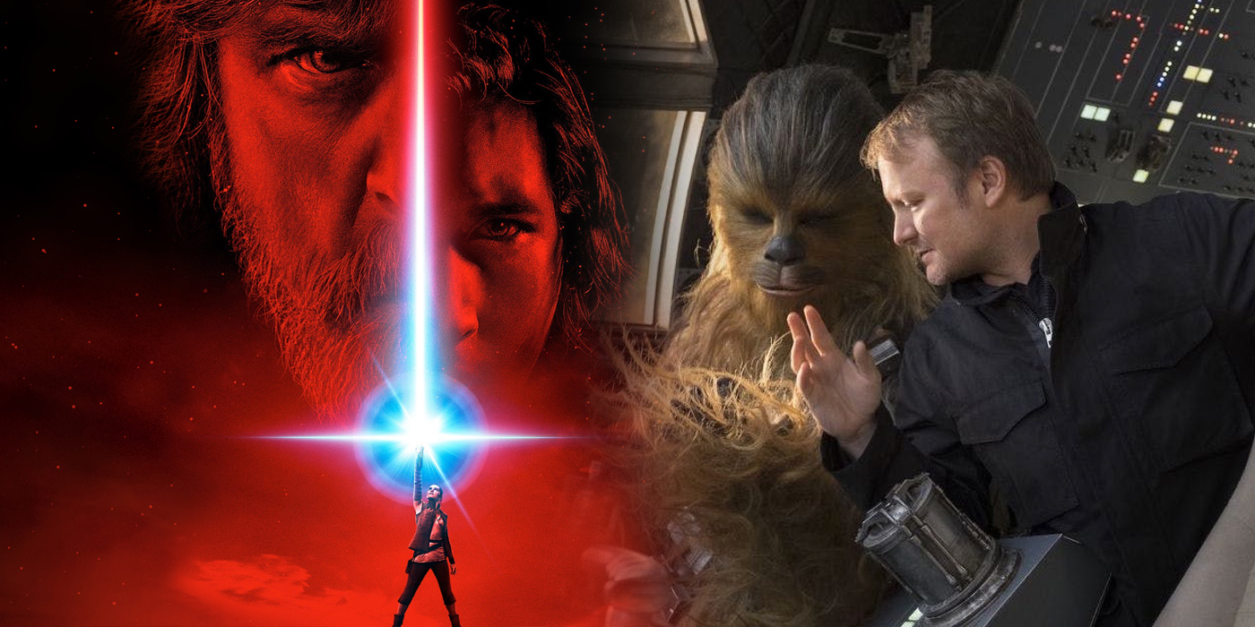 Star Wars The Last Jedi Poster and Rian Johnson on Set