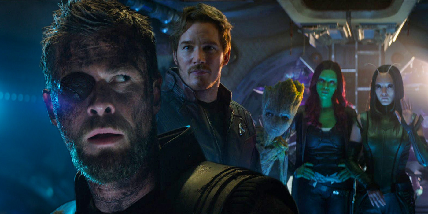 Thor and the Guardians of the Galaxy in Avengers Infinity War