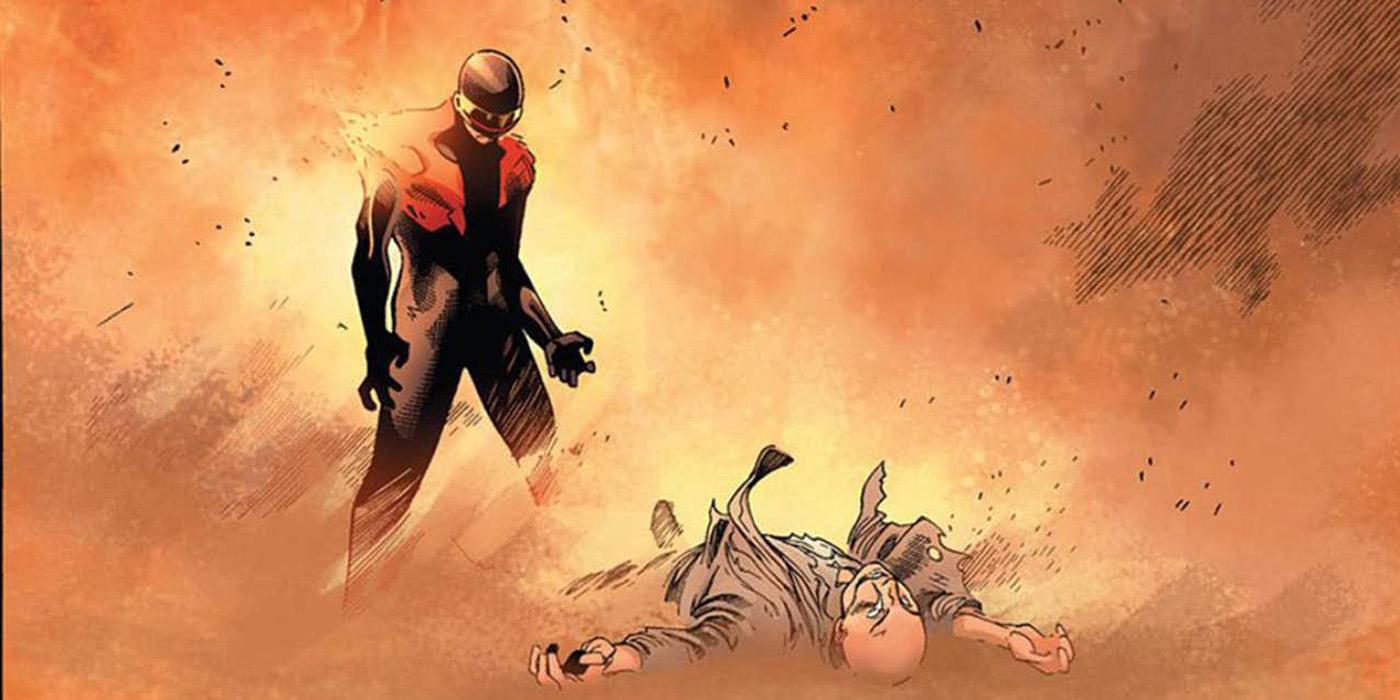 Cyclops kills Professor X in Avengers v X-Men