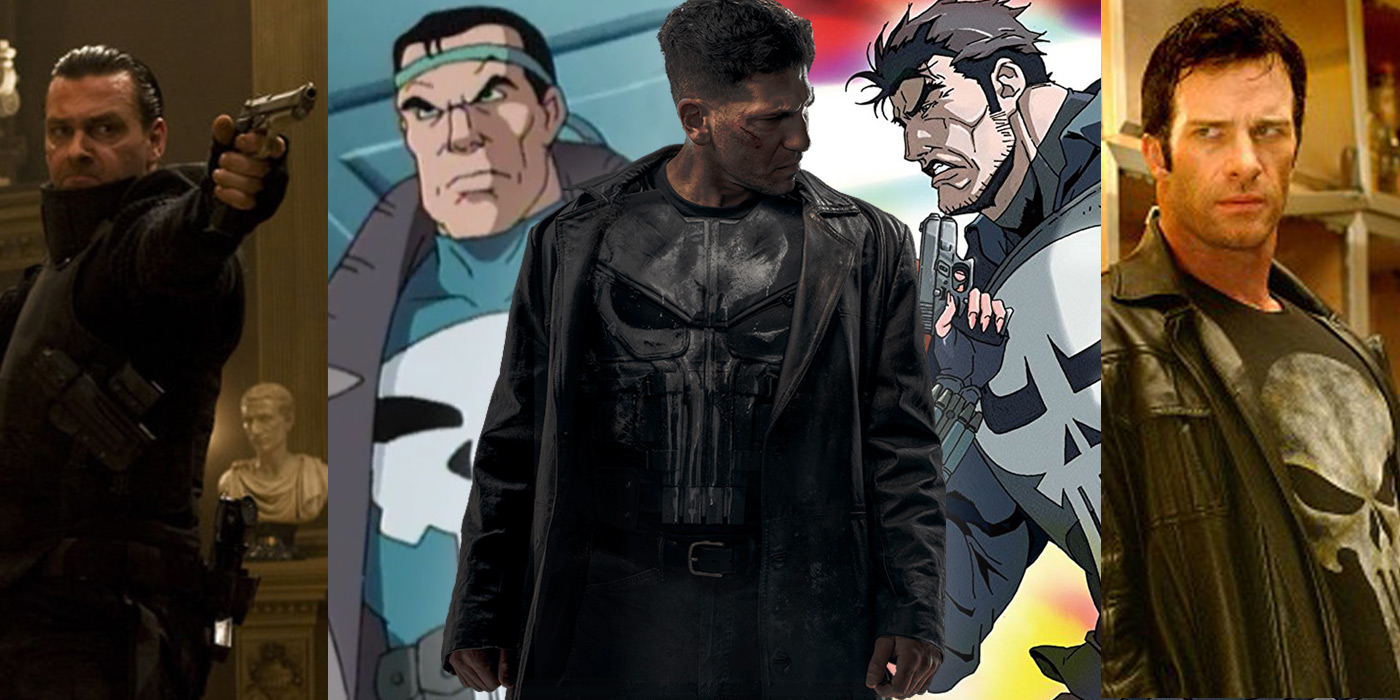 The Punisher Frank Castle Film TV Adaptations
