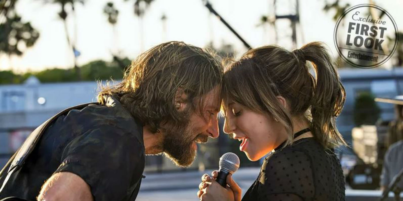 Bradley Cooper and Stefani Germanotta in A Star is Born (photo: EW)