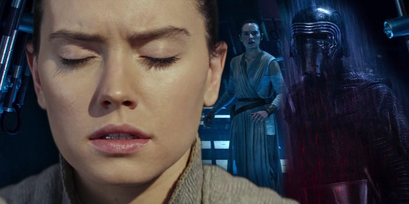 Daisy Ridley as Rey and her Force Vision