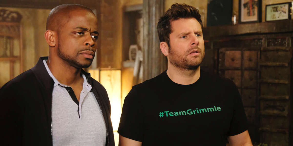 Dule Hill and James Roday in Psych The Movie