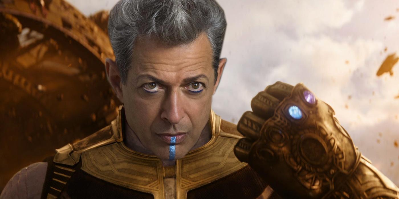 Jeff Goldbum Grandmaster as Thanos